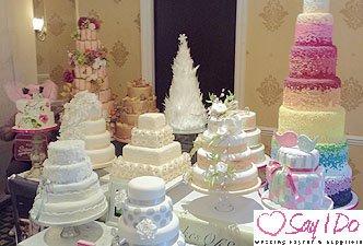 Wedding Cakes at Hatherton House Hotel Wedding Fayre