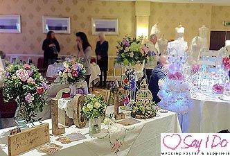 Wedding Flowers at Hatherton House Hotel Wedding Fayre
