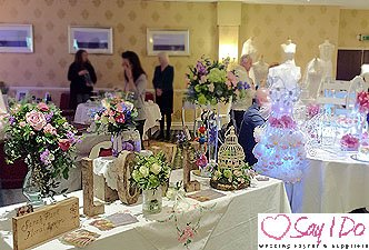 Wedding Flowers at Hatherton House Hotel Wedding Fayre