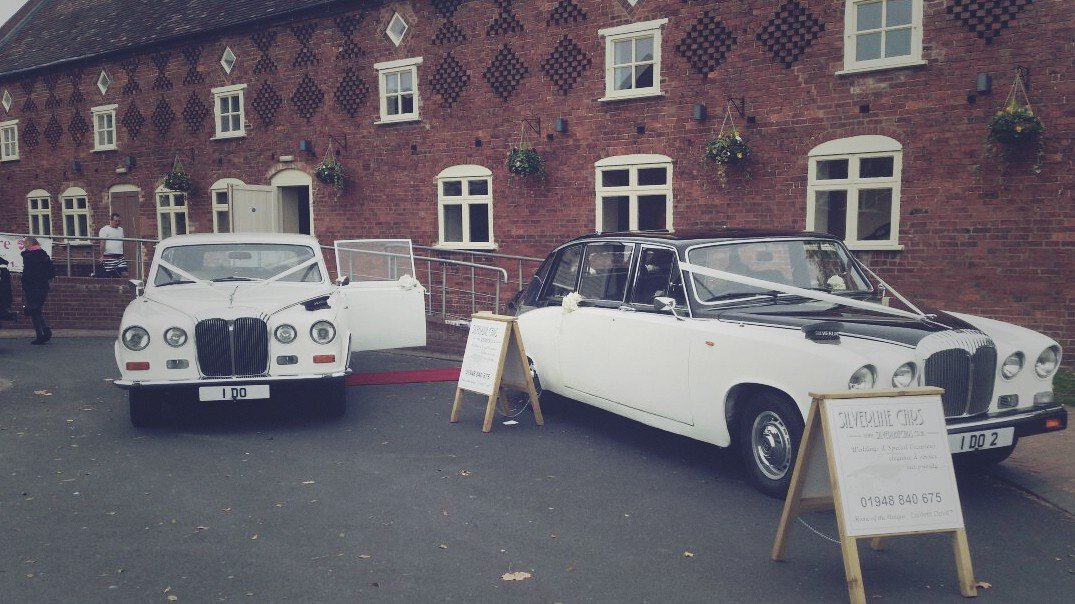 wedding cars at wedding fayre, shropshire